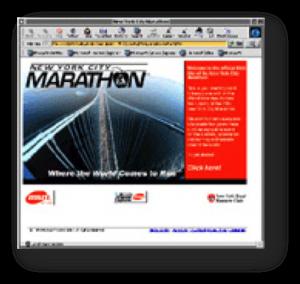 NY Marathon Webpage