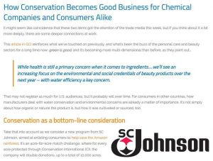 How Conservation Becomes Good Business for Chemical Companies and Consumers Alike