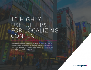Crownpeak eBook – 10 Tips For Localizng Content