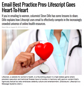 Message Systems MarketingLand column – LifeScript