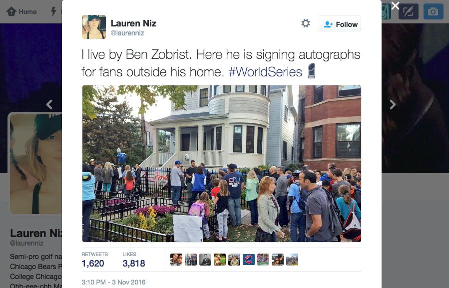 Ben Zobrist Autpgraphing